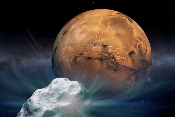 Marte, l'atmosfera del Pianeta è bombardata da piccoli meteoriti