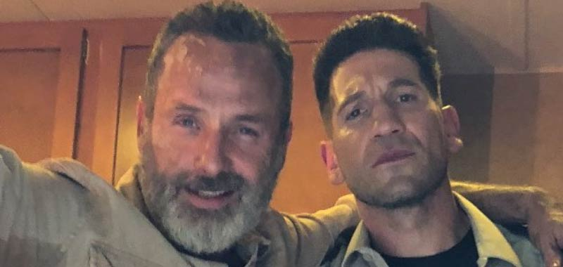 The Walking Dead Jon Bernthale condivide la reunion con Andrew Lincoln