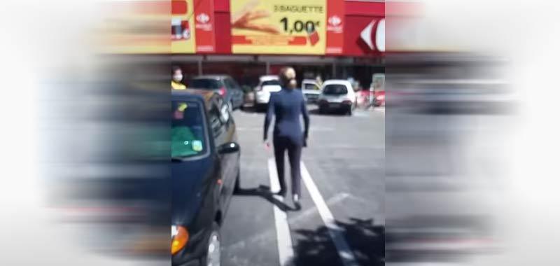Maurizia Paradiso perde le staffe per strada